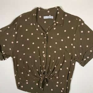 Faithfull the Brand Size 4 Brown/Pink Blouse